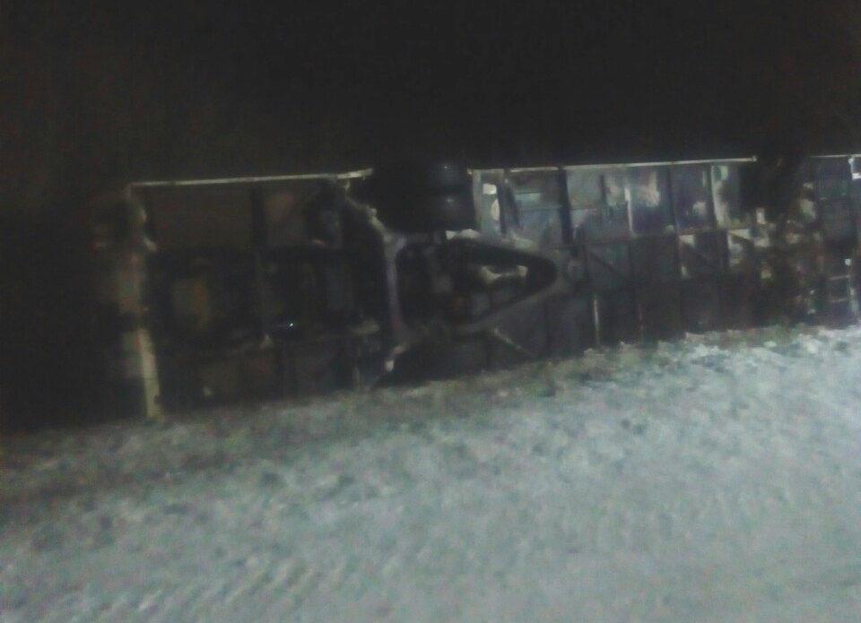 Автобус с российскими туристами перевернулся в Ушачском районе