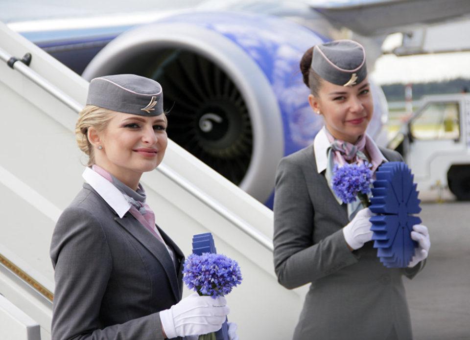 Пассажиры бизнес-класса «Белавиа» будут получать ароматический васильковый гидролат