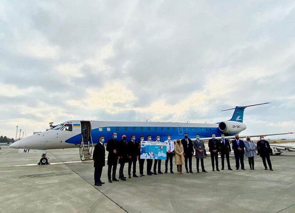 6 декабря осуществился первый авиарейс из Украины в Северную Македонию