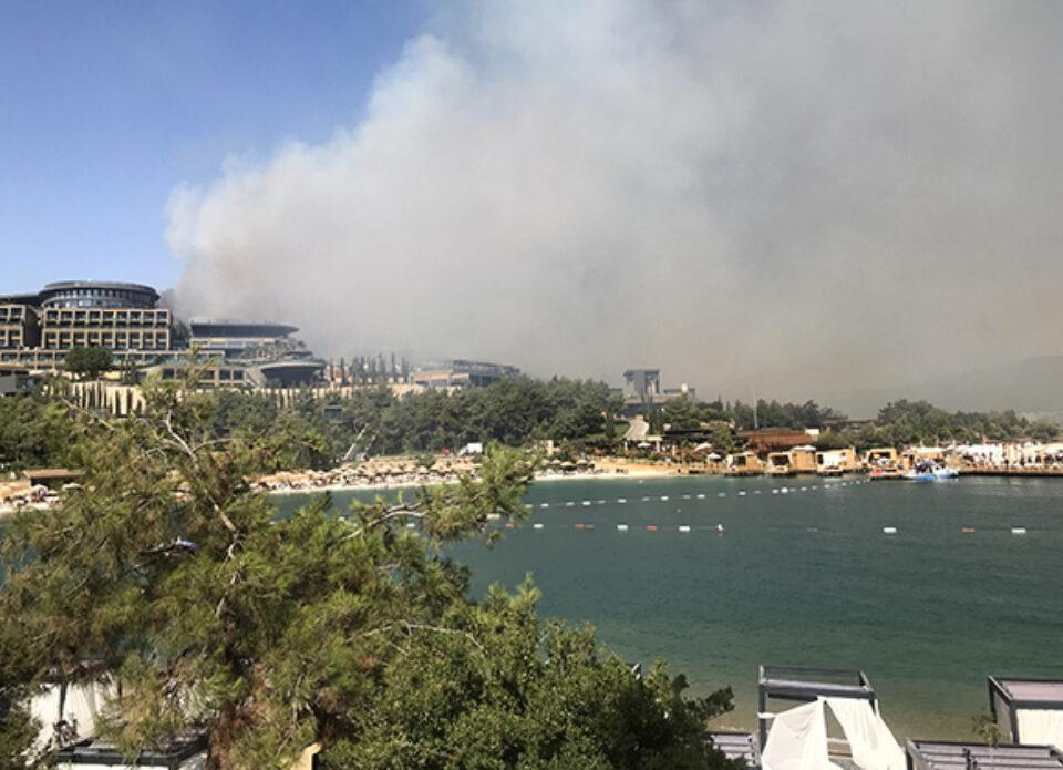 От лесных пожаров в Турции пострадали курортные зоны
